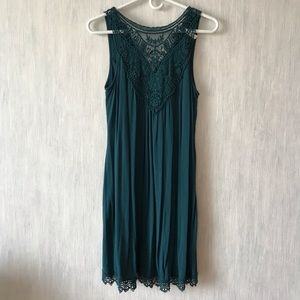 Blue/green lace dress